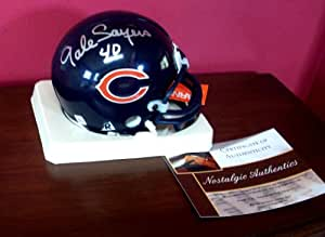 Gale Sayers Autographed Signed Chicago Bears Mini Helmet - Mint Condition