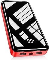 Bextoo Powerbank 30000mAh, Batterie Externe Haute Capacité avec 2 Sorties et Entrée Pack Batterie USB avec Affichage...
