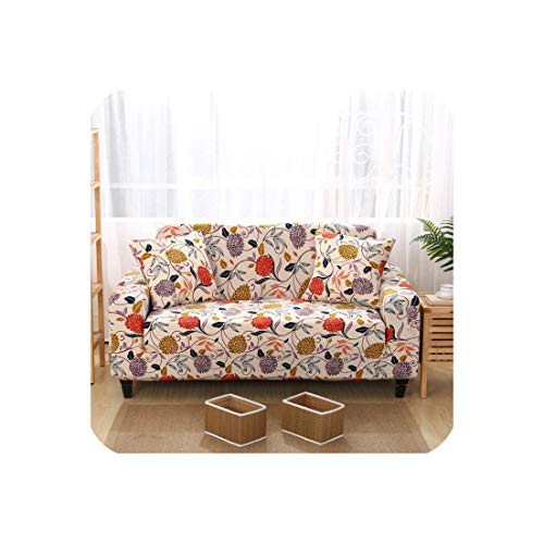 Sunjinjing Sofa Cover Couch Elastic Stretch Tightly Wrap All Inclusive Slip Resistant Sofa Slipcover for Living Room 1Pc Multi Colors,Rose,Four-Seater