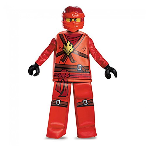 Kai Prestige Ninjago LEGO Costume, Small/4-6 (Halloween Costumes With Red Pants)