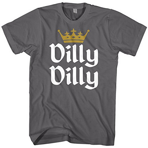 Mixtbrand Men's Dilly Dilly Gold Crown T-Shirt 2XL Charcoal