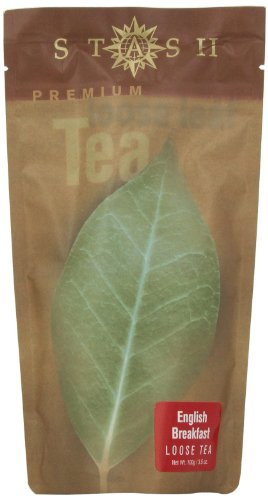 Stash Tea English Breakfast Loose Leaf Tea 3.5 Ounce Pouch (Packaging May Vary) Loose Leaf Premium Black Tea for Use with Tea Infusers Tea Strainers or Teapots, Drink Hot or Iced, Sweetened or Plain