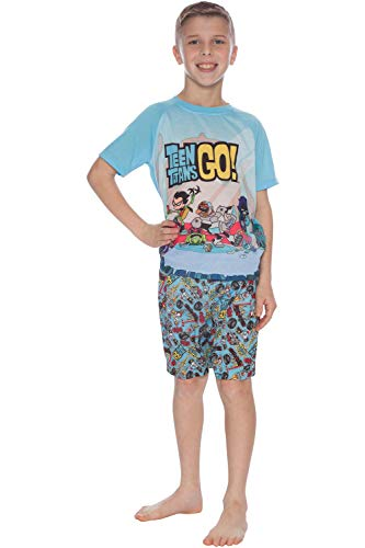 Teen Titans GO! Little Boys' 'Superhero' Pajama Short Set, Blue, 6/7 ()