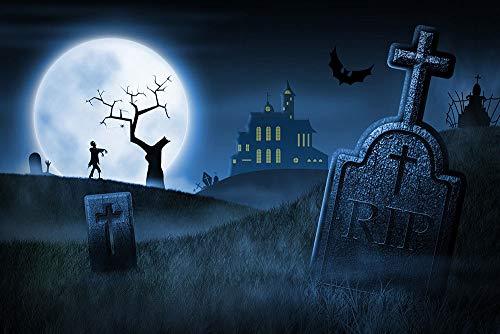 FidgetFidget Halloween Foggy Cemetery RIP Cross Vinyl Studio
