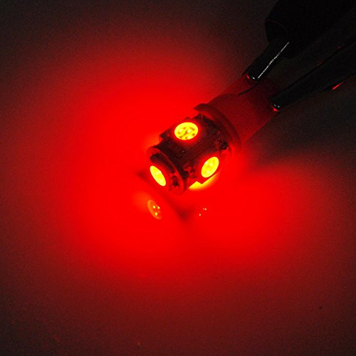 XT AUTO 20x Red T10 Wedge 5-SMD 5050 LED Light bulbs W5W 2825 158 192 168 194