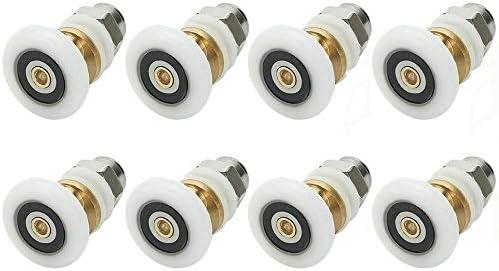 YUANQIAN - Rodillo de repuesto para mampara de ducha (8 unidades, 19 mm): Amazon.es: Bricolaje y herramientas