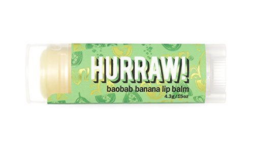 HURRAW! Baobab Banana Lip Balm: Organic, Certified Vegan, Certified Cruelty Free, Non-GMO, Gluten Free, All Natural – Luxury Lip Balm Made in The USA – Baobab Banana