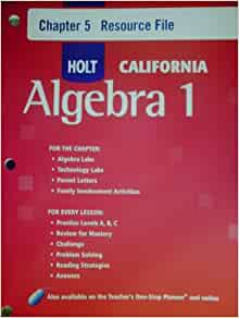 Algebra 1 chapter resource book answers