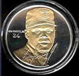 1997 Highland Mint SIGNATURE SERIES MLB Baseball Collectible Coin Set: Gold/Silver Two Tone: Ken Griffey Jr. - Cincinnati Reds / Seattle Mariners
