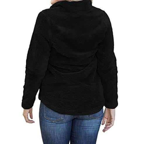 Maglioni Sweater Maglieria Casual Nero Maglie Pullover Bluse Jumper Manica Autunno Donna Monika e a Felpa Moda Tops Plush Lunga Inverno CSwqxt