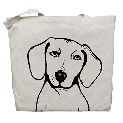 Peabody the Dachshund Tote Bag by Pet Studio Art