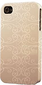 Cream Wrought Iron Pattern Dimensional Case Fits Apple iPhone 5c