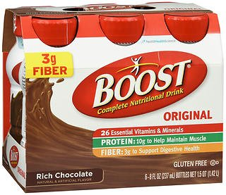 Boost Original Complete Nutritional Drinks Rich Chocolate - 24-8 oz, Pack of (Boost Complete Care)