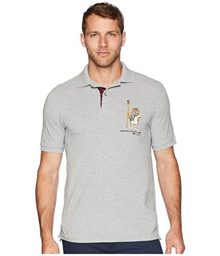 Polo Ralph Lauren Men's's Limited Polo Bear Polo Shirt-HtrGrey/Boathouse-Large ()
