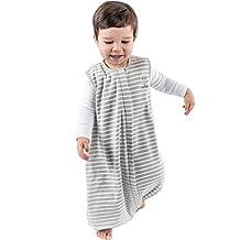 Woolino 4 Season Baby Sleep Bag with feet, Merino Wool Walker Sleep Bag or Sack, 18-36m, Gray