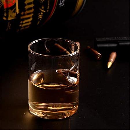 Further Vaso de whisky, vasos de chupito, vasos de cristal soplado a mano, innovadores vasos de licor de ron o bourbon, el mejor regalo para hombre 250 ml