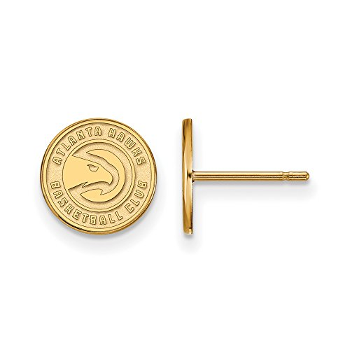NBA Atlanta Hawks X-Small Post Earrings in 10K Yellow Gold by LogoArt