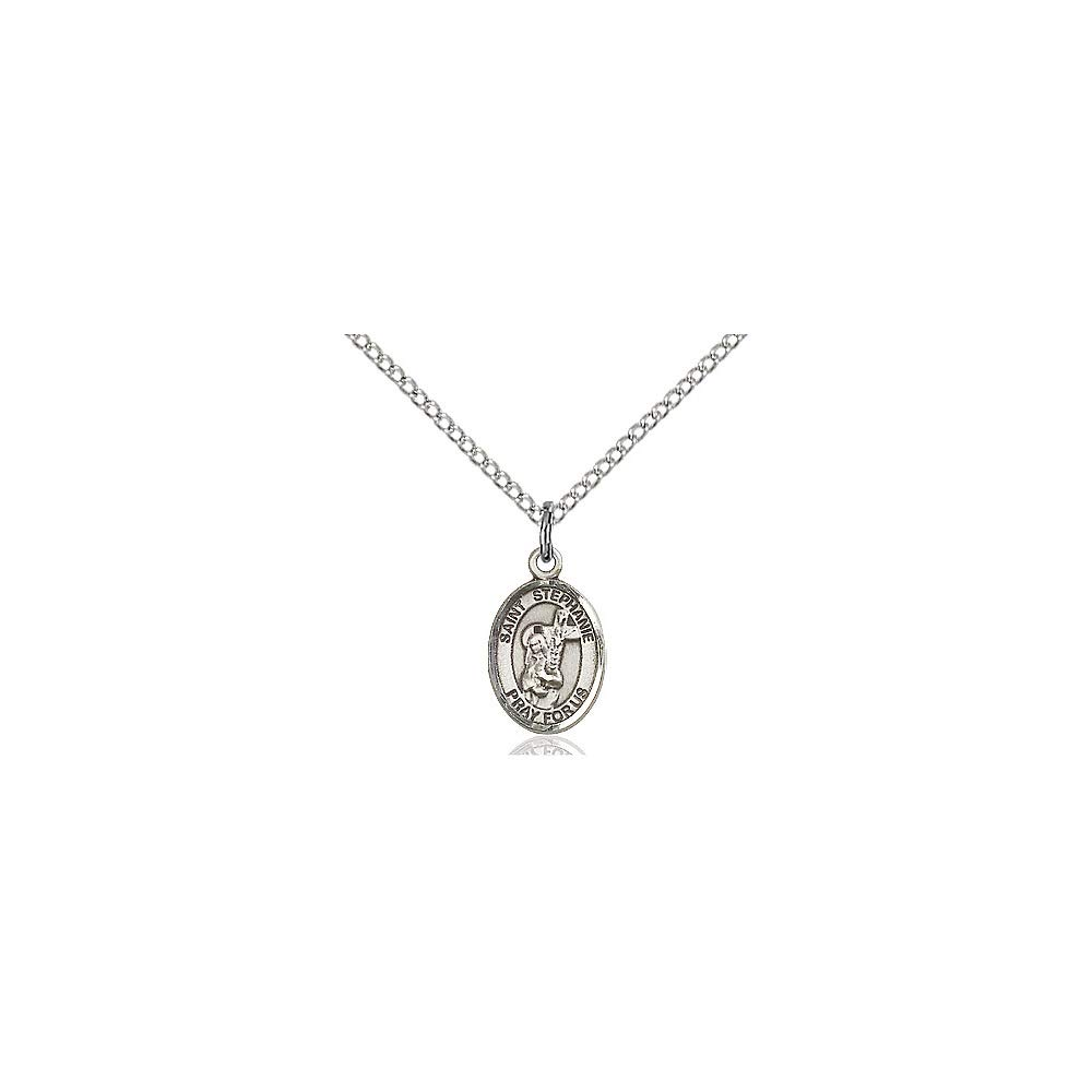 DiamondJewelryNY Sterling Silver St Stephanie Pendant