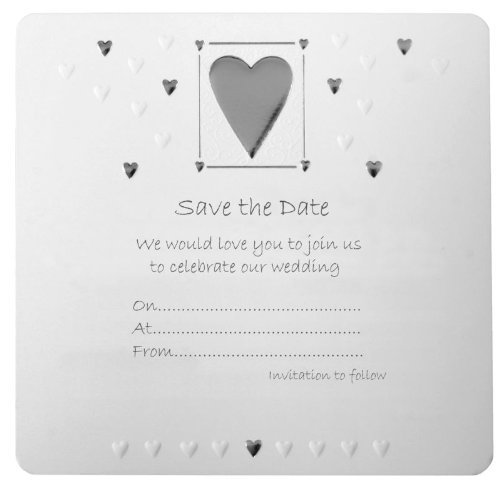 10 Save the Date Wedding Invitations Inc Envelopes
