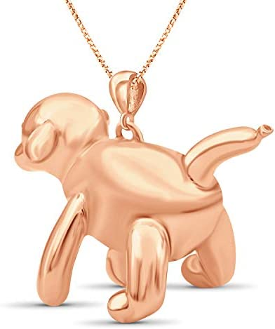 Jewelexcess Sterling Silver Duck Metal Pendant Rosegold over Silver; YellowGold over Silver