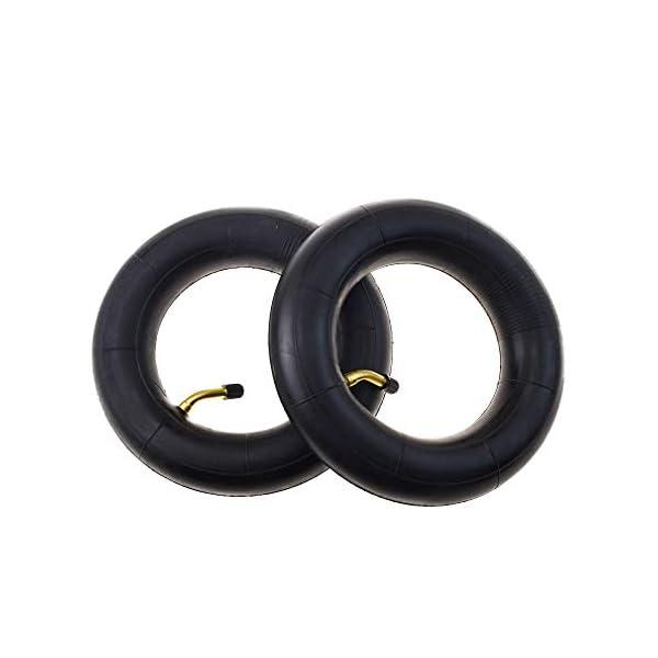 Goofit 2PCS 200X50 incurvé incurvé pneu interne de tube de tige pour le scooter électrique de saleté de vélo