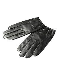 Insun Men's Thin Winter Short Sheepskin Driving Leather Gloves M Black