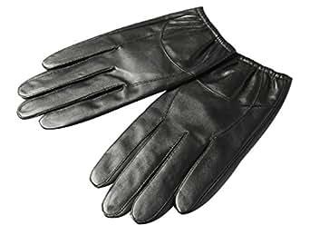 Insun Men's Thin Winter Short Sheepskin Driving Leather