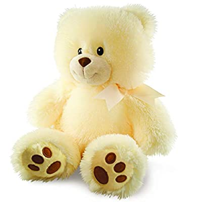 Cuddle Barn Cuddles the Cub Teddy Bear, Musical Stuffed Animal Plush Toy for Babies Glows and Plays 5 min Melody of