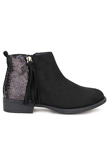CAYLINE bi CendriyonBottine matière Femme Chaussures noire 0mONw8vn