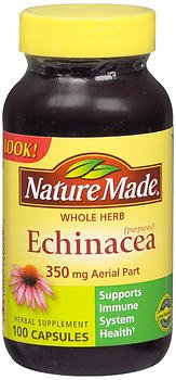Nature Made Echinacea 350 mg, 100 Capsules (Pack of 3)
