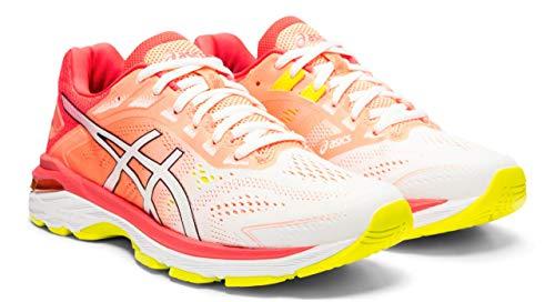 ASICS Women's GT-2000 7 Arise Running Shoes, White/Laser Pink, 7.5 M US ()