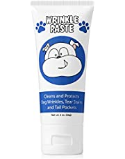 Squishface Wrinkle Paste - Cleans Wrinkles, Tear Stains and Tail Pockets - 60ml, Great for Bulldogs, Pugs and Frenchies