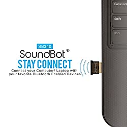 SoundBot SB340 Universal Plug and Play Bluetooth 4.0 USB Adapter