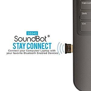 SoundBot SB340 Universal Plug and Play Bluetooth 4.0 USB Adapter