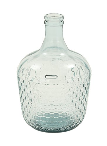 "Deco 79 18221 Glass Wide Bottle Vase, 10"" x 17"" - 17inch decorative product Suitable to be use as decorative items This product is manufactured in Spain - vases, kitchen-dining-room-decor, kitchen-dining-room - 41TfFMpSA2L -"