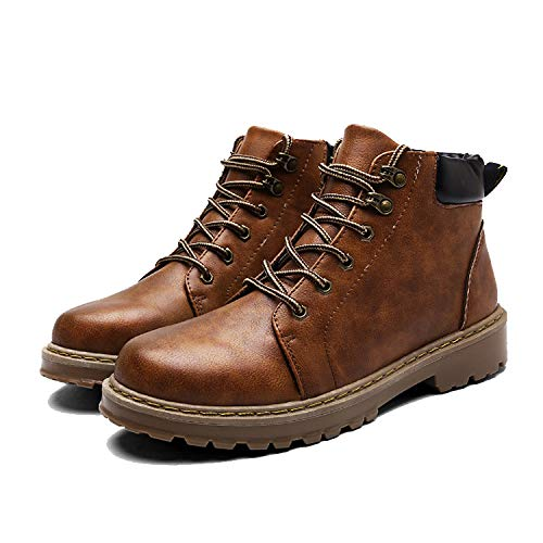 Vintage Antideslizante Dealer Botines Toe Brown Smart Safety Casual Round Chelsea Boots Martin Mens 0OwdPXqq