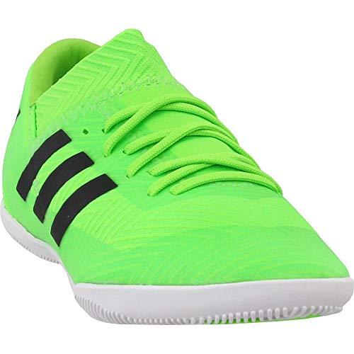 adidas Unisex Nemeziz Messi Tango 18.3 Indoor Soccer Shoe, Black/Solar Green, 5 M US Big Kid (Indoor Soccer Shoes Messi Kids)