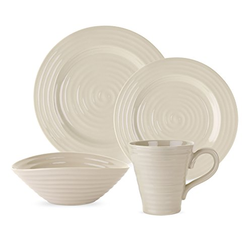 Portmeirion 749151583603 Sophia Conran 4 Piece Place Setting, Pebble