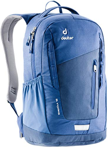 Deuter External Pockets - Deuter StepOut 16 Men's 16 Liter Backpack with Ventilated Back and External Compartments | PFC Free and Internal Organization for Business, Travel, School, and Everyday - Midnight/Steel