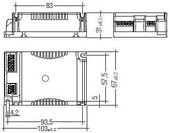 Tridonic Atco PC 1//26//32//42 TCT PRO 220-240v ballast fluorescente ad alta frequenza compatto