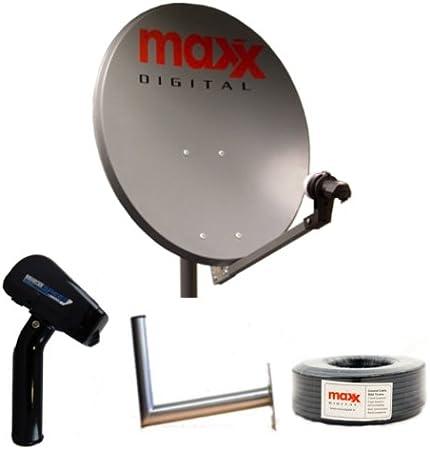 Maxx Digital 60 cm de Antena parabólica + Lnb + 30 m Cable + ...