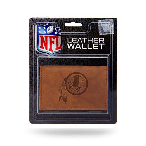 Rico Industries NFL Washington Redskins Embossed Leather Trifold Wallet with Man Made Interior