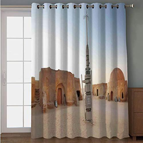 Joy2016 Blackout Curtains for Patio Sliding Door, Extra