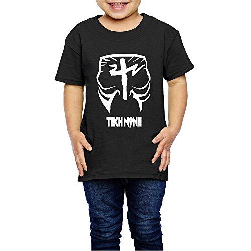 AK79 Kids 2-6 Years Old Boys And Girls Tee Shirt Tech Face Paint N9ne Black Size 2 Toddler (Tech N9ne Jersey)