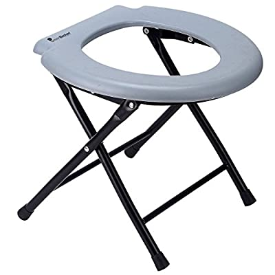Green Elephant Folding Commode Comfort Chair – Portable Toilet Seat And Commode Chair – Perfect for Camping, Hiking, Trips, Construction Sites, and More.