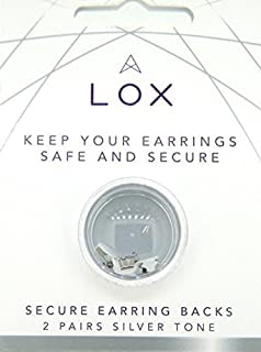 Connoisseurs Lox Silver Tone Earring Backs LOX 2SDP