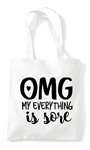 White Everything Workout Shopper Statement Sore My Omg Tote Is Gym Bag v5pAOpxwq