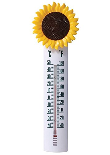Russco III GD133847 Decorative Wall Thermometer - Sunflower