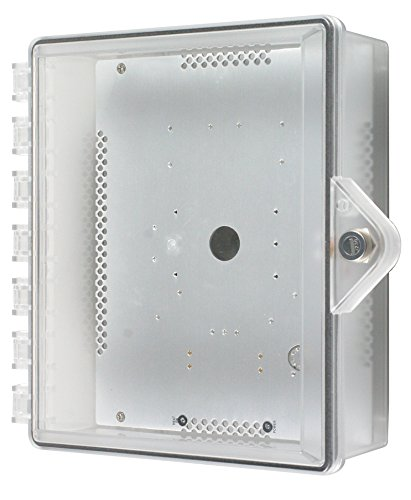 Safety Technology International, Inc. STI-7520-HTR Heated Type 4X Clear Polycarbonate Enclosure with Key Lock and Radiant Heat Plate by Safety Technology Intl