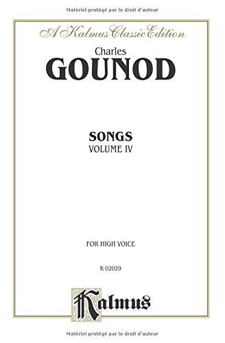 Songs, Vol 4 High Voice (French Language Edition) (Kalmus Edition)  (Tapa Blanda)